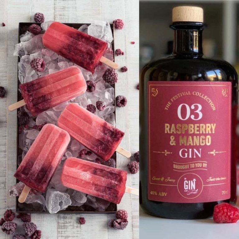 The Gin To My Tonic Raspberry & Mango Gin Popsicles