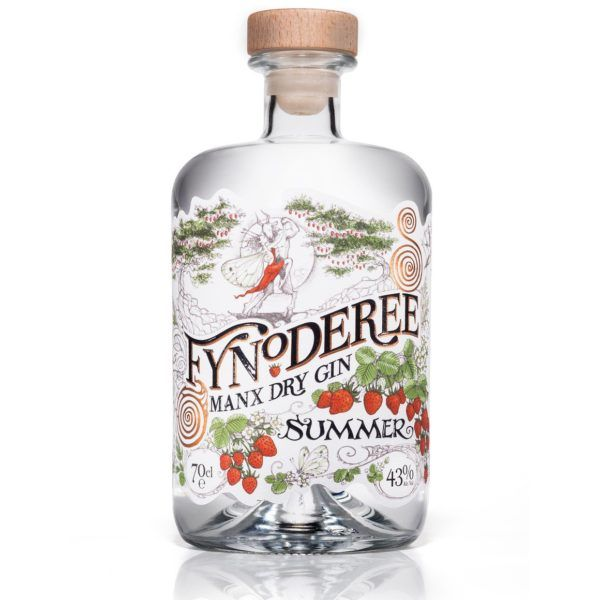 Fynoderee Manx Dry Gin - Summer Edition 70cl bottle on white background