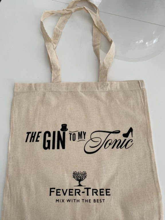 The Gin To My Tonic 100% Cotton Tote Bag Featuring The Gin To My Tonic and Fever-Tree Logos